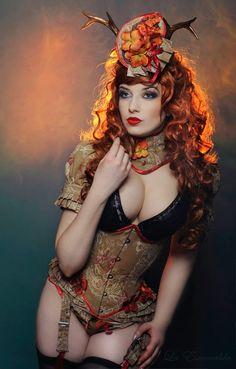 Sophisticated Deer II by *la-esmeralda on deviantART #corsets ~ ♥ #steampunk