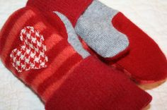 Felted Wool Mittens Love Me Toddler by whimsiedots on Etsy, $18.00