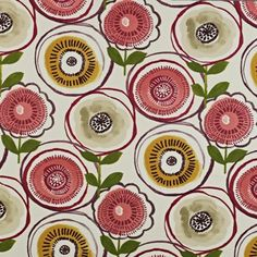Indah - Berry fabric, from the Java collection by Prestigious Textiles