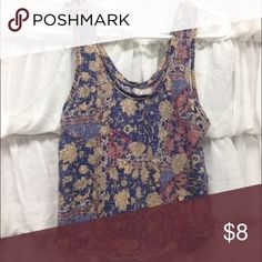 Urban Outfitters Crop Tank Item: Floral Cropped Tank from Urban Outfitters Size: S Condition: Good All of my products are from a smoke free home. I only sell things in a condition that I myself would buy so you can be confident that your new item will be in great condition! Let me know if you need more pictures or to model and I will see what I can do for you. Feel free to ask any questions! 07 Urban Outfitters Tops Tank Tops