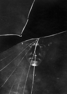 Self portrait - Stanisław Ignacy Witkiewicz (Witkacy) 1910.  perspective hauntingly beautiful.