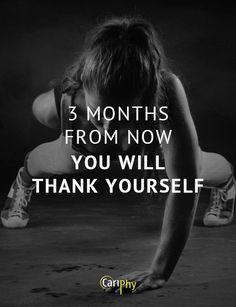 Voor iedereen die hard aan z'n sportieve doelen werkt! #fitness #motivation # quote #training