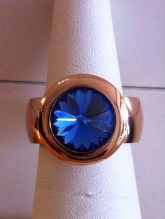 Sapphire 13mm Rose Gold #Qudo #Famosa www.thesilverlily.com