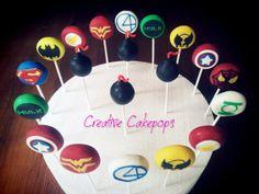 Vintage Super Hero cake pops #vintage #superhero #cakepops