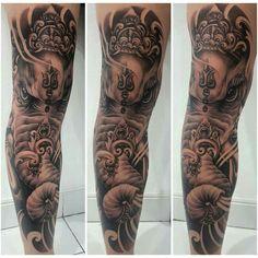 Free style elephant tattoo