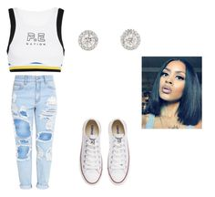 """""""pretty girl team mix"""" by tiaramb11 ❤ liked on Polyvore featuring P.E Nation and Converse"""