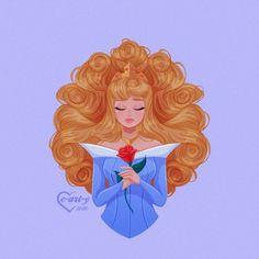 Arte Disney, Disney Fan Art, Disney Love, Disney Magic, All Disney Princesses, Disney Princess Aurora, Disney Characters, Princess Cartoon, Sleeping Beauty Art