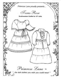 Clothing Patterns for American Girl Dolls - Primrose Lane Sewing Doll Clothes, Sewing Dolls, Girl Doll Clothes, Girl Dolls, Girl Clothing, Ag Dolls, Doll Sewing Patterns, Doll Clothes Patterns, Clothing Patterns