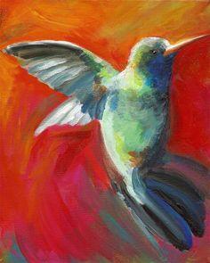 Nectar Archival print hummingbird art by amberalexander on Etsy