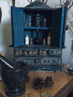 """rosemary-by-your-garden-gate: """" 🔮witches cabinet appreciation🔮 """" Witch Cottage, Witch House, Magick, Witchcraft, Witch Room, Wiccan Decor, Modern Witch, Witch Aesthetic, Kitchen Witch"""