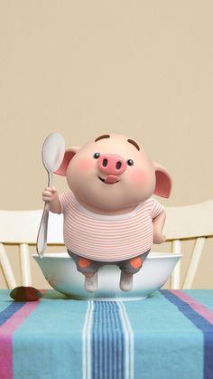 El pig MÁS guappo de la historia ✌🐷 This Little Piggy, Little Pigs, Duck Wallpaper, Cute Piglets, Pig Drawing, Pig Illustration, Cute Cartoon Pictures, Funny Pigs, Mini Pigs