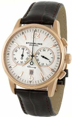 Stuhrling Original Men's 186L.3345K2 Symphony Aristocrat Patrician Chronograph Date Watch Stuhrling Original. $230.00. Krysterna scratch resistant crystal. Features a date at the six o'clock position and 24 hour indicator. Built in a high polished stainless steel case and on a genuine leather strap. Water-resistant to 165 feet (50 M). Quartz movement