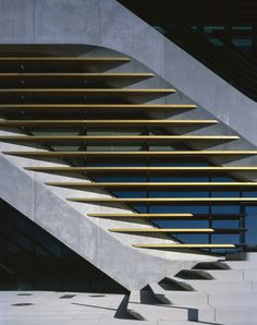 Exterior detail of the Pierres Vives Office Building in Montpellier, France by Zaha Hadid Architects