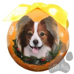 Papillon Shatterproof Dog Breed Christmas Ornament http://doggystylegifts.com/products/papillon-shatterproof-dog-breed-christmas-ornament