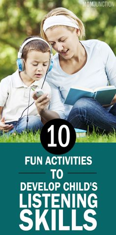 10 Fun Activities To Develop Effective Listening Skills In Children: ost of the children find sitting in one place and listening to be boring. You need not trigger the panic button for that. There are many ways to improve her listening abilities. Listening Activities For Kids, Listening Games, Active Listening, Listening Skills, Teaching Kids, Fun Activities, Teaching Spanish, Listening And Following Directions, Speech And Language