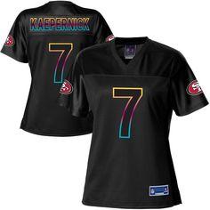 Pro Line Women's San Francisco 49ers Colin Kaepernick Fashion Jersey - Black