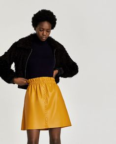 Image 2 of FAUX LEATHER MINI SKIRT from Zara