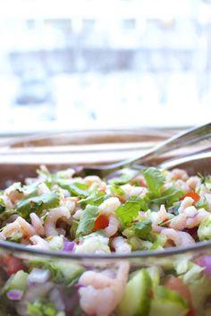 Hämmentäjä: Raikas rapuceviche juhlapöytään. Fresh shrimp ceviche for a festive table: Christmas, New Year, summer party...