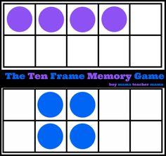 Boy Mama Teacher Mama   The Ten Frame Memory Game