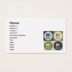 Pop Art Social Work Business Card