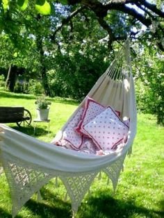 I love to lay in the hammock.