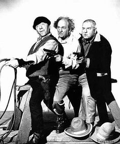 The Three Stooges. These guys would show before the feature in the theater.