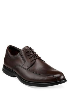 $125, Dark Brown Leather Derby Shoes: Clarks General Bike Toe Derby Brown Leather 12 M. Sold by Nordstrom. Click for more info: http://lookastic.com/men/shop_items/153174/redirect