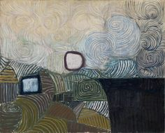 Victor Pasmore - Spiral Motif in green, violet, blue and gold: The cost of the inland sea
