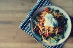 Vegetarian Taco Salad with Homemade Taco Seasoning | The Flourishing Foodie