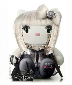 Insane! Lady Gaga Hello Kitty for @Katie Del Angel (Click through, Awesome HK blog, doesn't matter that it's in French)