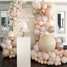For The ❤️of Parties ( Birthday Balloon Decorations, Birthday Balloons, Birthday Party Themes, Balloon Arch, Balloon Garland, Diy Garland, Baby Shower Themes, Baby Shower Decorations, Shower Baby