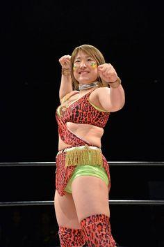 Japanese wrestler Jungle Kyona http://joshipuroresu.blogspot.com/2016/07/jungle-kyona-vs-natsumi-maki-japanese.html  #Joshipuroresu