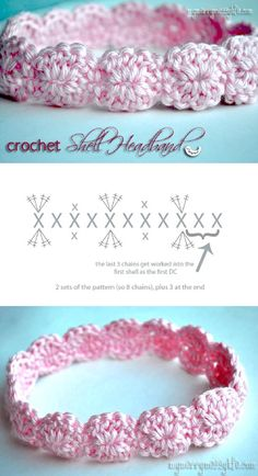 crochet headband pattern TOP 10 Free Patterns for Stylish Knitted & Crocheted Accessories Crochet Crafts, Crochet Projects, Crochet Designs, Crochet Patterns, Crochet Headband Pattern, Crochet Headbands, Hat Crochet, Crotchet, Baby Headbands