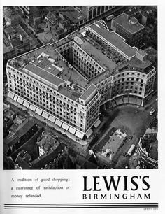 I remember going to Lewis's in Birmingham in the 1970's.