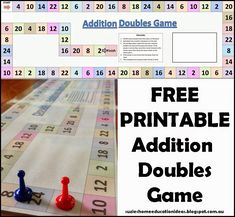 Addition Doubles Game with a Free Printable. Perfect for encouraging math fluency in first and second grade.