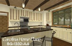 images of small craftsman cottage see floorplan views and images of small craftsman contemporary open floor home plan for easy selection. Affordable House Plans, Affordable Housing, 3d House Plans, Large Open Kitchens, Craftsman Cottage, Open Floor, Design Firms, Kitchen Cabinets, Floor Plans