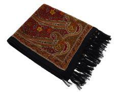 Black Silk Scarf Women - Hand Painted Fashion Accessory for Girls 68x21 Inch ShalinIndia http://www.amazon.com/dp/B00EIFQ32W/ref=cm_sw_r_pi_dp_OWFQvb1G67GGV