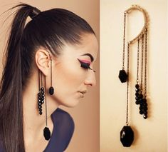 Ear Cuff with long dangles, another idea maker
