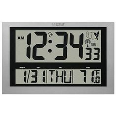 Digital Clocks and Clock Radios: La Crosse Technologies 513-1211 Atomic Clock With Thermometer -> BUY IT NOW ONLY: $81.39 on eBay!