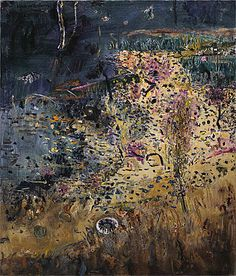 Fred Williams, 'Kew Billabong, old tyre II', 1975, oil on canvas, 106.7 x 92cm