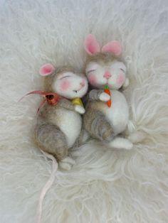 Needle Felted Animal Wool BUNNY