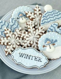 Blue & White Christmas Cookies ~ It's a Colorful Life ~