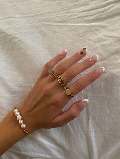 Cute Acrylic Nails, Gel Nails, Nail Polishes, Acryl Nails, Nail Jewelry, Jewellery, Nail Ring, Funky Nails, Fire Nails