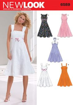 Dress Patterns - New Look Misses Dresses Pattern