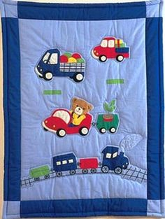 en patchwork et couette pour garçons - - Vivienne LeBeau Quilt Baby, Baby Patchwork Quilt, Baby Quilt Patterns, Sewing Projects, Projects To Try, Baby Sheets, Baby Sewing, Quilt Blocks, Diy And Crafts