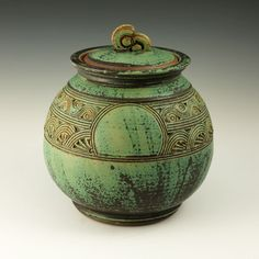 Lidded Vessel - Sandy's Green by Nick Blaisdell