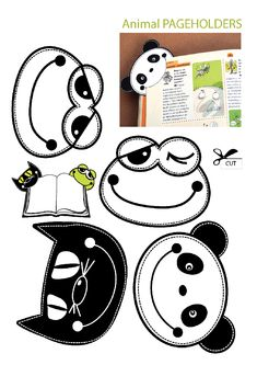 printables for kids Creative Bookmarks, Corner Bookmarks, Bookmarks Kids, Felt Bookmark, Origami Bookmark, Diy Marque Page, Felt Crafts, Paper Crafts, Book Markers