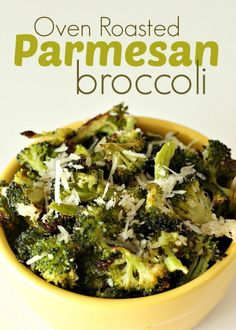 Oven Roasted Parmesan Broccoli.
