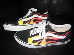 vans skate low flames