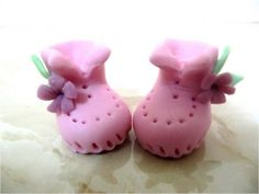 Souvenirs baby shower de porcelana fría - O de pasta de goma, o de fondant, para usarse como cake top